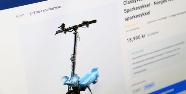 image: Selger elsparkesykkel som går i 100 km/t