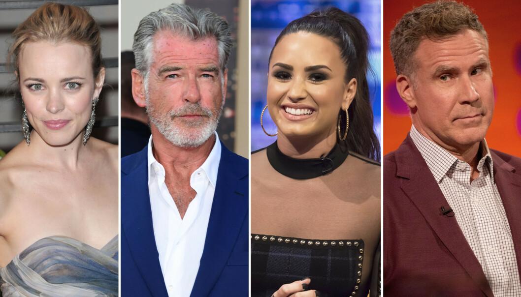 Rachel McAdams, Pierce Brosnan, Demi Lovato og Will Ferrell skal alle spille i filmen. Foto: Scanpix