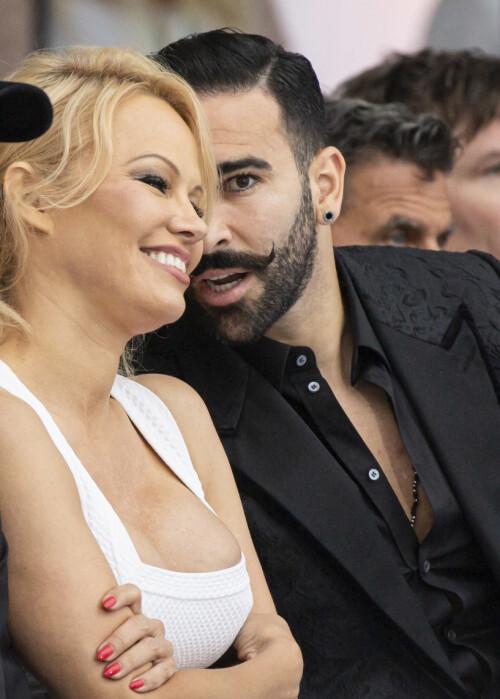 SLUTT: I juni var forholdet mellom Pamela Anderson og Adil Rami over. Foto: NTB Scanpix