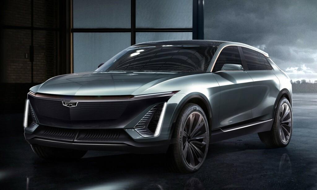 CROSSOVER: Her er den nye, elektriske amerikaneren som skal gå i strupen på Tesla. Cadillacen skal greie 64 mil under optimale forhold. Foto: Cadillac