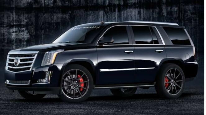 <strong>EL-SUV:</strong> Gigant-SUVen Cadillac Escalade, som er rappernes favoritt over dammen, skal også elektrifiseres. Foto: Cadillac