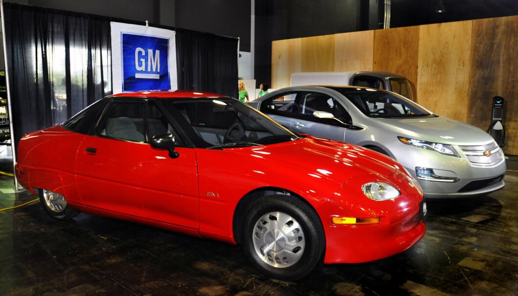 <strong>UPOPULÆR ELBIL:</strong> GM EV1 var elbilen ingen ville ha. Foto: GM