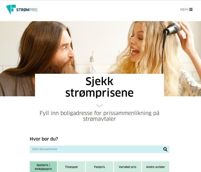 <strong>FÆRRE KATEGORIER:</strong> Strømpris.no vil snart kategorisere strømavtalene i portalen i tre kategorier, mot fem som i dag. Foto: skjermdump.