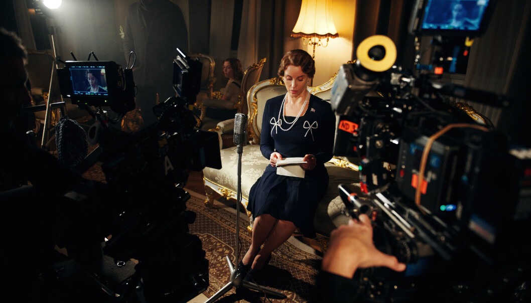 SOFIA SOM MÄRTHA: Skuespiller Sofia Helin fotografert under opptak. FOTO: Cinenord