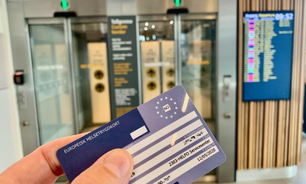 <strong>På ett kort:</strong> Helsetrygdkortet bør være med på alle reiser i Europa. Men det blir lite verd dersom Storbritannia velger Brexit uten avtale. Foto: Odd Roar Lange/The Travel Inspector