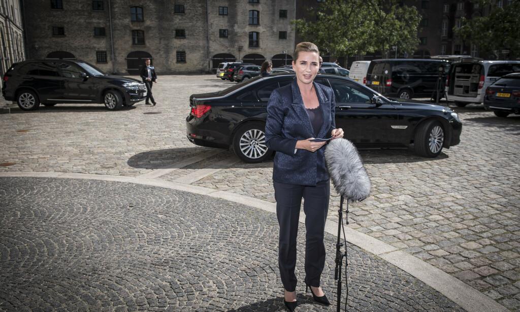 Ifølge dansk TV 2 var det Danmark som tok initiativ til å snakke med president Donald Trump på telefon torsdag. Her er statsminister Mette Frederiksen. Foto: Mads Claus Rasmussen / Ritzau / NTB scanpix