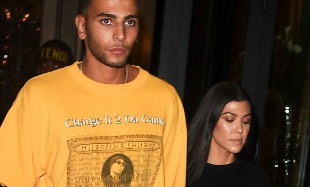 BRUDD: Ett år etter at Kourtney Kardashian og Younes Bendjima gikk fra hverandre, møttes de igjen på en fest før helgen. Foto: NTB Scanpix