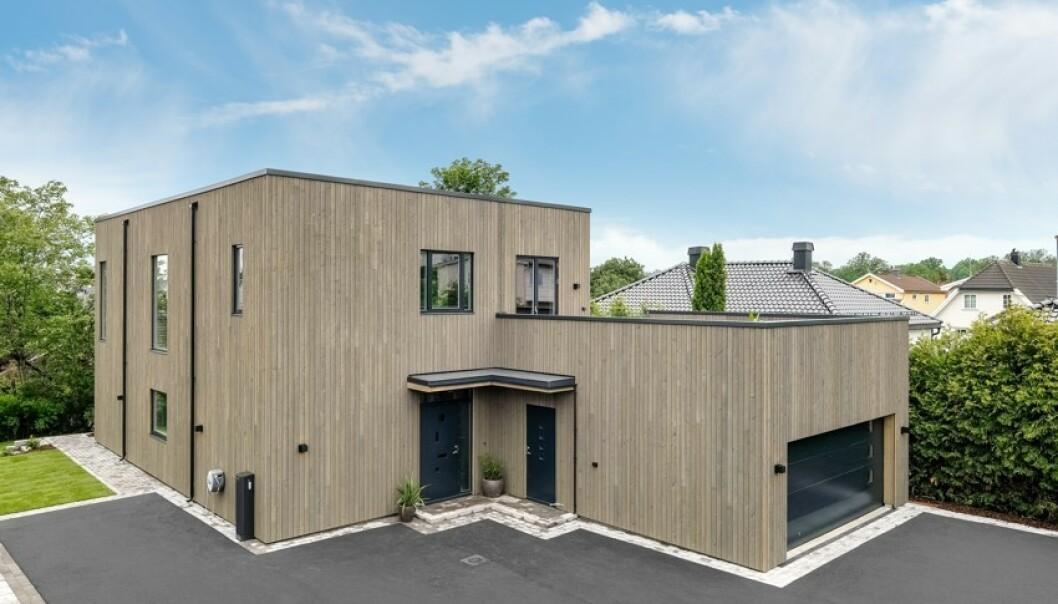 <strong>FUNKISVILLA:</strong> Ekteparets nye bolig ligger på Nøtterøy. Foto: Kristian T. Bollæren / Z-eiendom