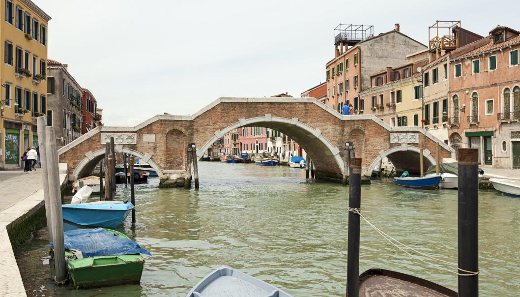 <strong>IKKE LOV:</strong> To norske kvinner i 20-åra ble kastet ut av Venezia og fikk 450 euro hver i bot etter å ha badet her i Cannaregio-kanalen. Foto: Didier Descouens/Wikimedia commons