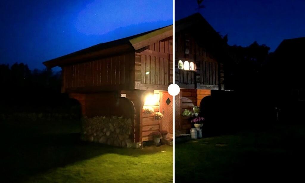MER LYS: Med appen NeuralCam kan du få mer ut av kveldsbildene du tar med iPhone. Foto: Pål Joakim Pollen