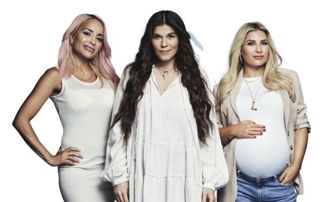 KJENDIS-MØDRE: Disse tre, Linni Meister, Kristin Gjelsvik og Louise Angelica Riise, skal følges i TV3s nye serie «Kjendismødre» i høst. Foto: Rune Bendiksen/ TV3