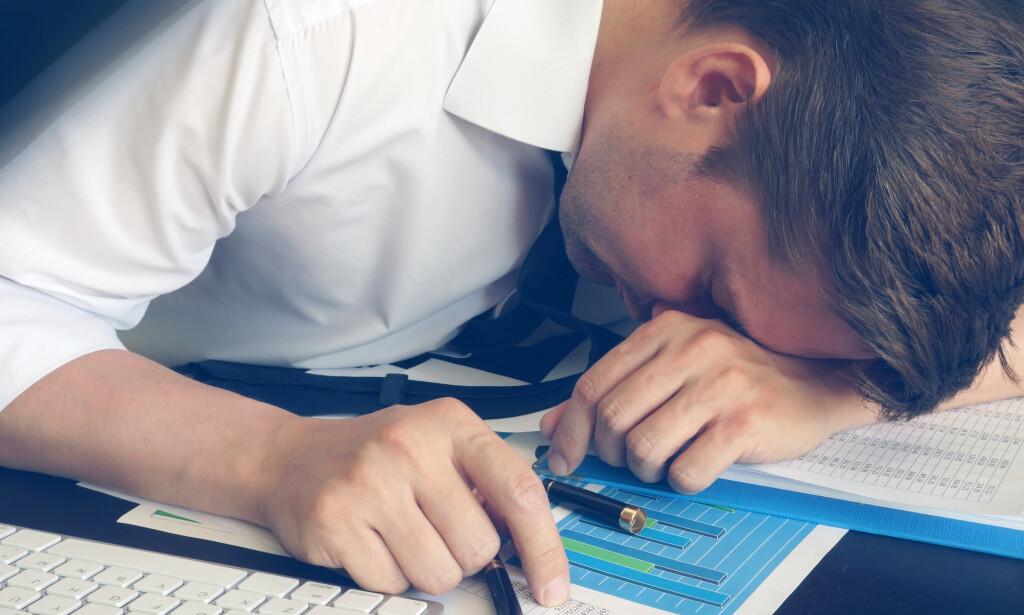 SVÆRT VANLIG: Tretthet er et svært vanlig symptom i befolkningen. Sykelig tretthet kan skyldes alt fra stressende livshendelser til mer alvorlige, underliggende sykdommer. Foto: NTB Scanpix/Shutterstock