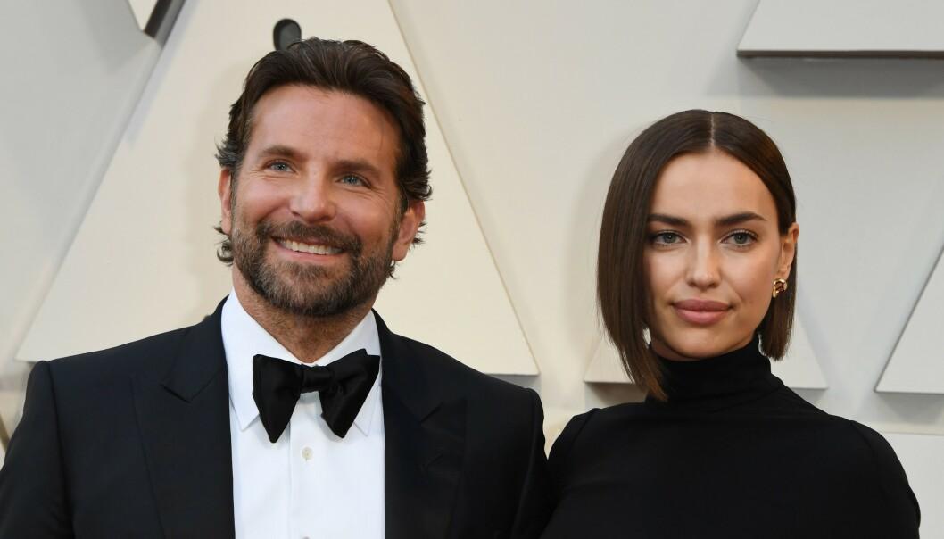 KJÆRLIGHETEN BRAST: Bradley Cooper og Irina Shayk gjorde det slutt tidligere i år. Nå vekker Cooper oppmerksomhet på nye bilder - hvor flere tar til orde for at han ikke ligner seg selv. Foto: NTB Scanpix