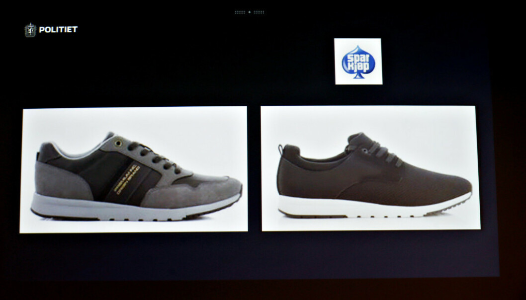 <strong>SOLGT:</strong> Det er disse to typene av skoen Sprox som er solgt i Norge. Foto: Henning Lillegård / Dagbladet