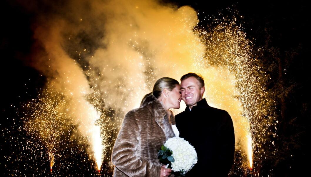 VINTERBRYLLUP: Golfstjernen giftet seg med mannen i sitt liv i Holmenkollen kapell. Foto: John T. Pedersen / Dagbladet