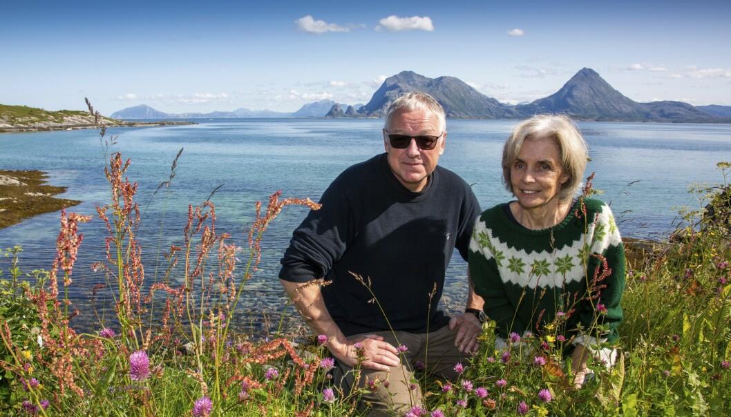 <strong>EKTEPAR:</strong> Forfatter Roy Jacobsen og kona Anneliese Pitz har samarbeidet om romanen om den tyske eventyreren Fritz Dörries. Foto: Hans Petter Sørensen