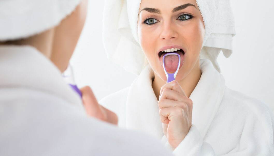 TA GREP: Alle pusser tennene – men husker du tunga? Foto: Scanpix