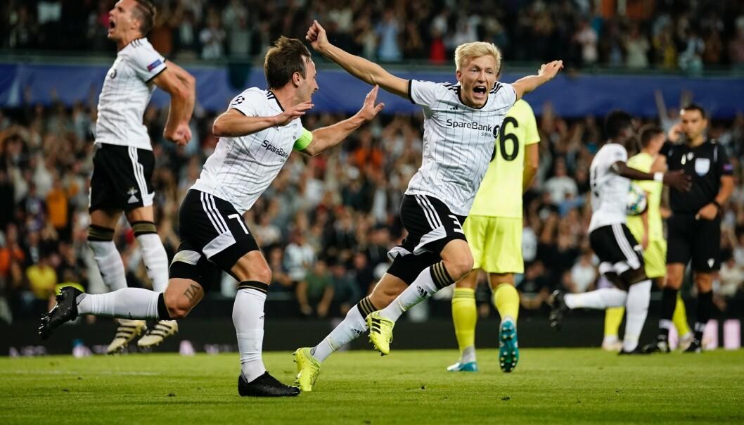 <strong>JUBEL:</strong> For RBK-spillerne Birger Meling og Mike Jensen. Foto: Ole Martin Wold / NTB scanpix