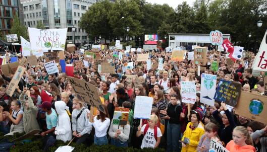 Engasjerte ungdommer over hele landet streiket på nytt for klimaet