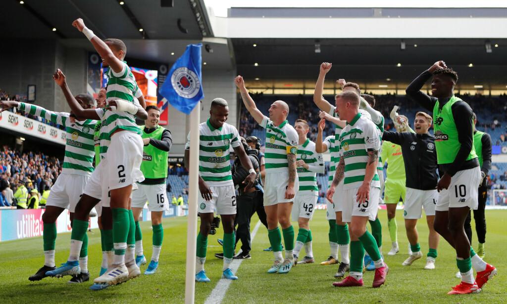 JUBLET FOR SEIER: Celtic-spillerne. Foto: NTB Scanpix
