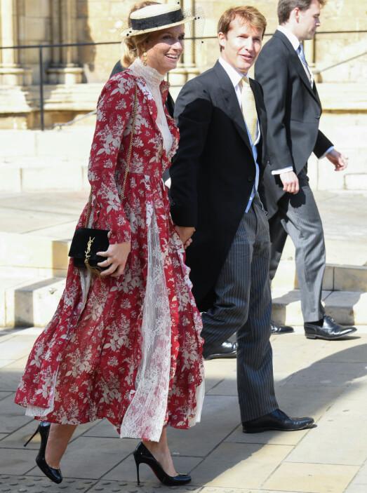<strong>MED KONA:</strong> Artisten James Blunt var også blant gjestene og kom sammen med kona Sofia Wellesley. Foto: NTB Scanpix