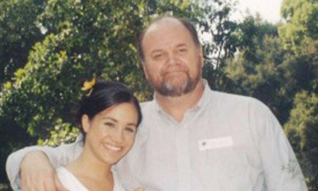 SKUFFET: Thomas Markle vil gjerne møte sitt barnebarn, men det har foreløpig ikke skjedd. Nå går han hardt ut mot datteren. Foto: Privat / NTB scanpix