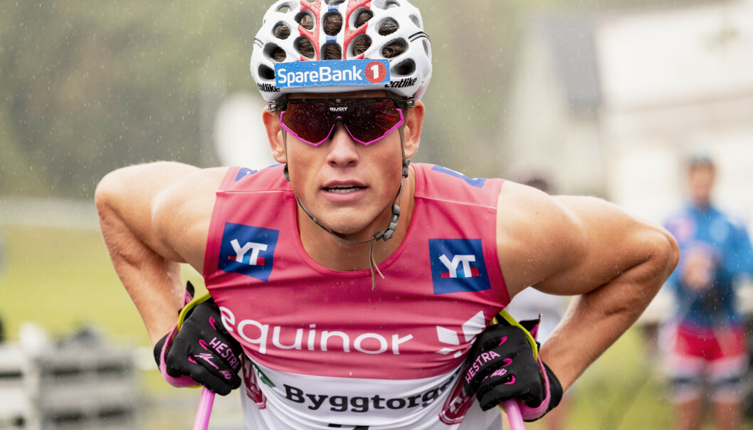 Johannes Høsflot Klæbo skadet tåa si under løpetrening på treningssamlingen i Frankrike denne uken. Foto: Ned Alley / NTB scanpix