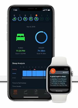 HAR TEKNOLOGIEN: I 2017 kjøpte Apple Beddit, et finsk selskap som lagde ulike søvnmålere. Foto: Beddit