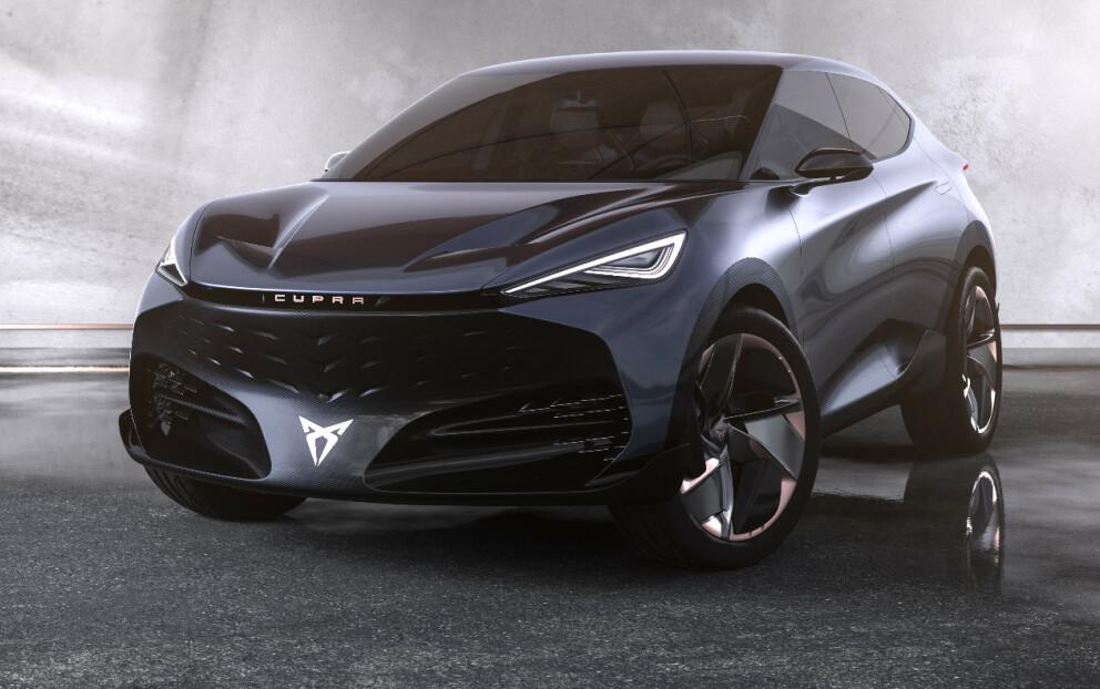AVDUKES: Seat Cupra avduker ny konsept-SUV under Frankfurt motorshow. Foto: Seat.