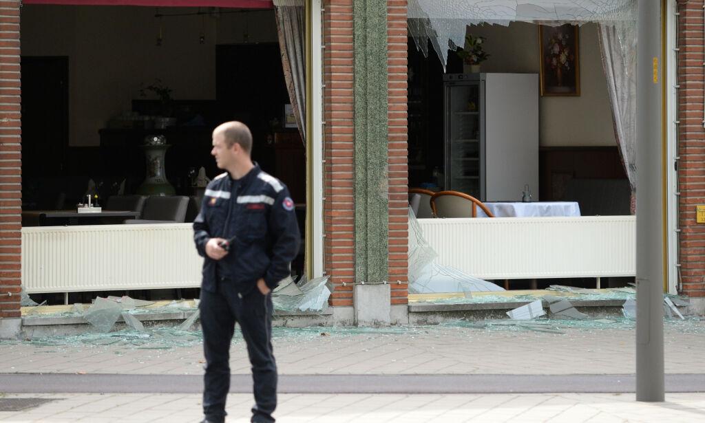 image: Tre reddet ut etter eksplosjon i Belgia – flere kan ligge under sammenraste hus