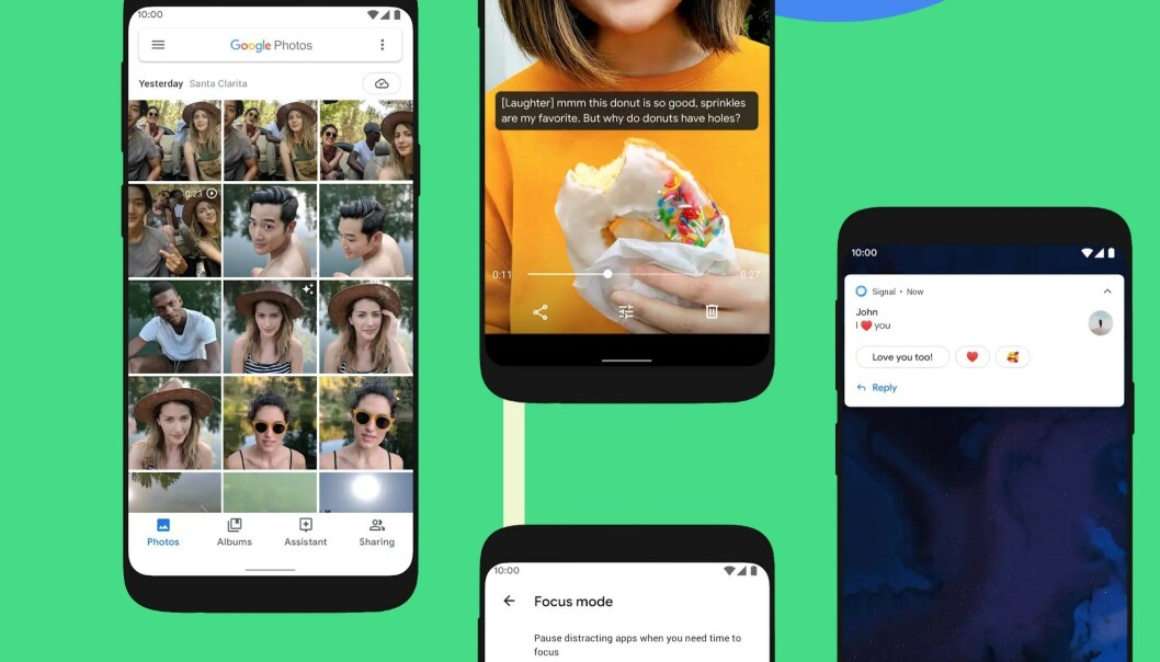 <strong>NY NAVNGIVING:</strong> Nå har Google gått bort fra desserter og slikkerier. Den nye Android-versjonen heter rett og slett Android 10. Foto: Google