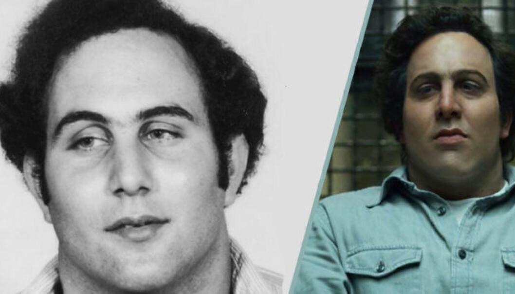 "HVEM ER HVEM: Til venstre drapsmannen David ""Son of Sam"" Berkowitz. Til høyre skuespiller Oliver Cooper. Bildecollage: Baam.se"