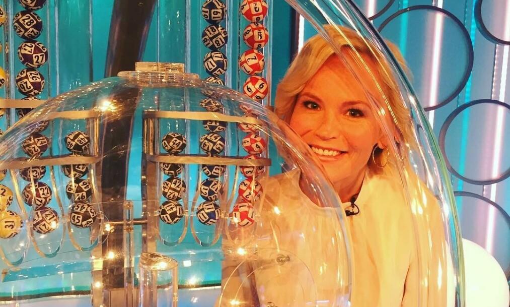 <strong>DETTE FÅR DU IKKE SE:</strong> Lotto-programleder Ingeborg Myhre avslører flere hemmeligheter fra Lotto-sendingene og fra hva som skjer bak kameraet. Foto: Privat