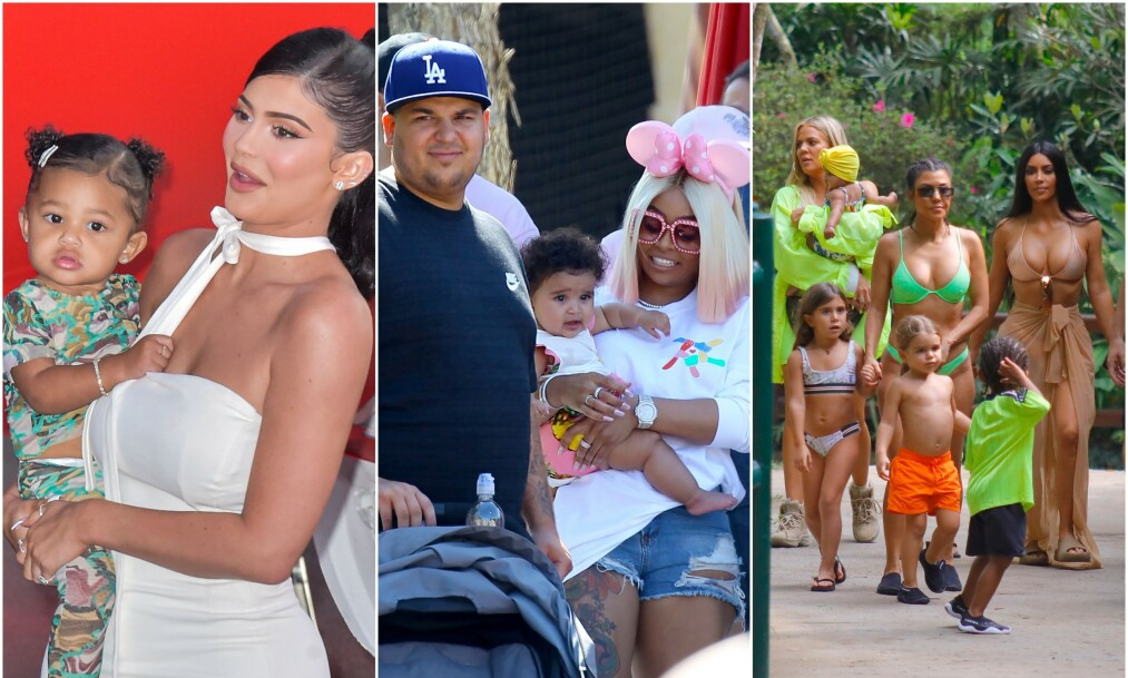 STOR FAMILIE: Det er ingen tvil om at medlemmene av den berømte Kardashian-familien vokser i rekordtid, og i dag kan Kris Jenner glede seg over ti barnebarn. Realitystjernene er kjent for å gi barna sine navn som er litt utenom det vanlige, men det er nok få som vet historien bak navnevalgene. Foto: NTB Scanpix