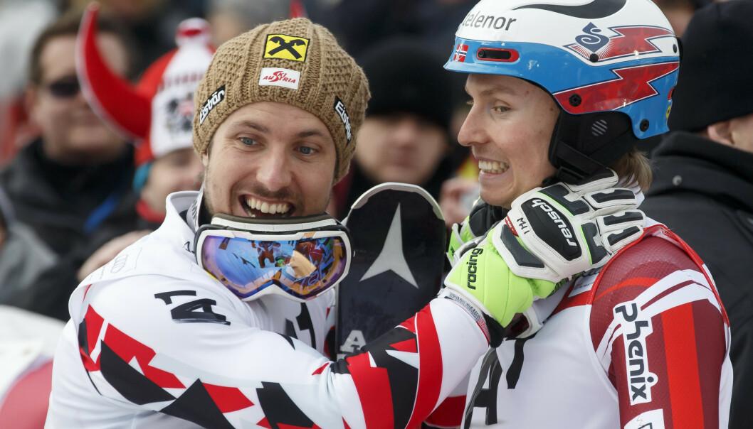 Marcel Hirscher hadde taket på Henrik Kristoffersen i alpinbakken. Nå gir østerrikeren seg som toppalpinist. Foto: Cornelius Poppe / NTB scanpix