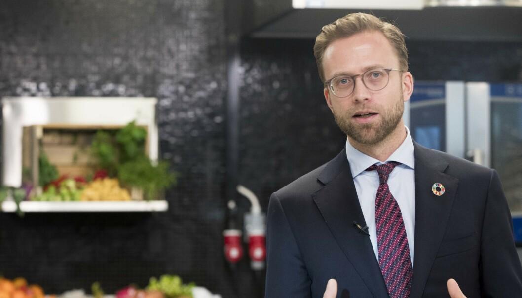 ADVARER: Digitaliseringsminister Nikolai Astrup mener MDGs politikk gjør verden dårligere rustet til å bekjempe klimaendringene. Foto: Terje Pedersen / NTB scanpix