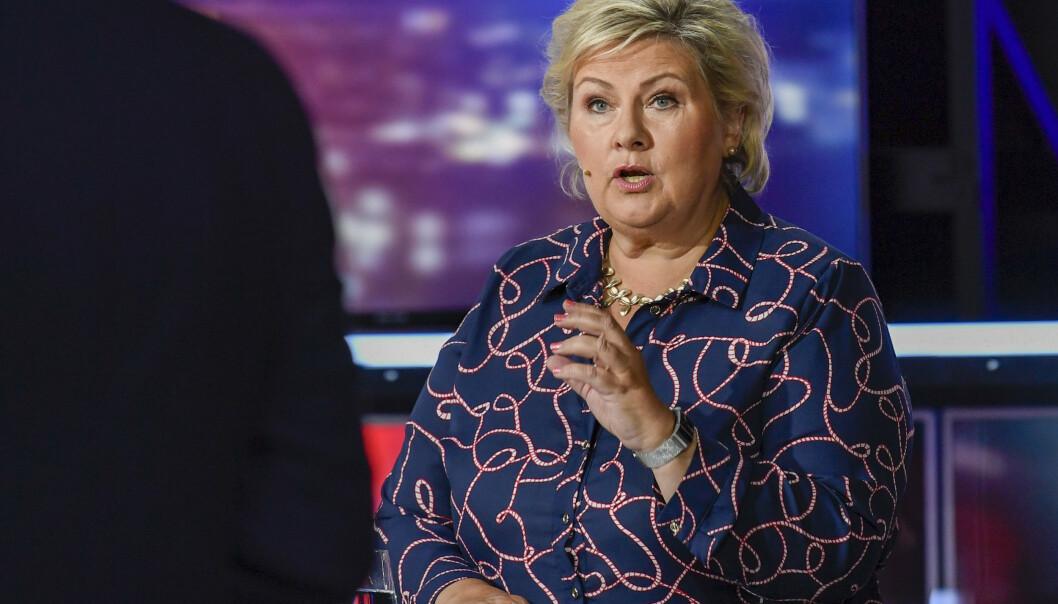 Statsminister Erna Solberg (H) mener bompengeløsningen ikke er noen våpenhvile for regjeringspartiene, men god, ny politikk. Foto: Marit Hommedal / NTB scanpix