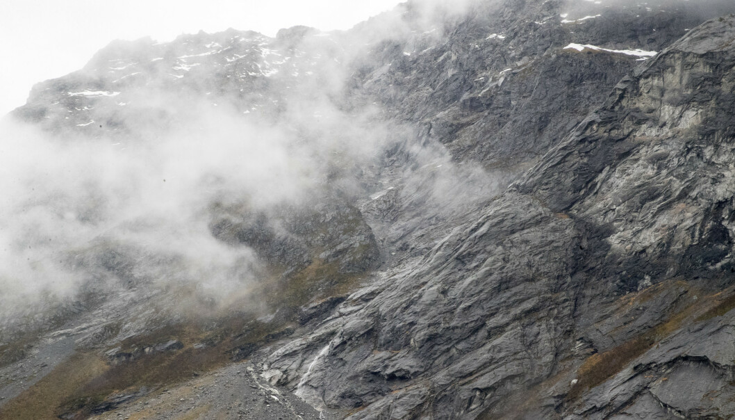 Bevegelsene øker i fjellpartiet Veslemannen i Rauma. Arkivfoto: Terje Pedersen / NTB scanpix