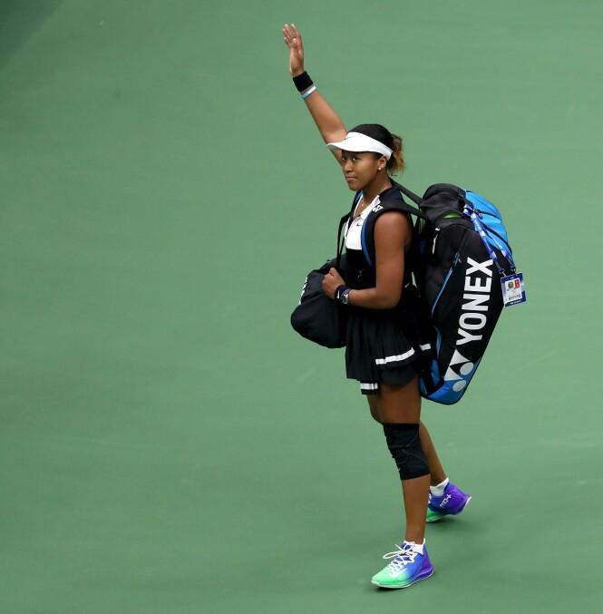 LIGGER GODT AN: Fjorårets US Open-vinner Naomi Osaka ligger godt an til å stikke av med seieren i år også. Foto: Scanpix