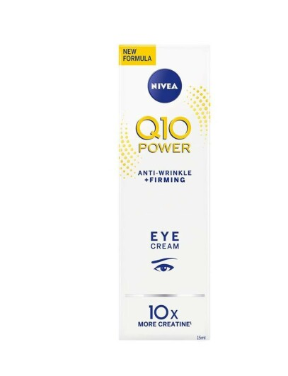Øyekrem   NIVEA   https://www.nivea.no/produkter/q10-power-anti-wrinkle-plusfirming-eye-cream-4005808179763006863.html?utm_source=kk&utm_medium=native&utm_campaign=NO_C204_NIV_Face_Q10Care