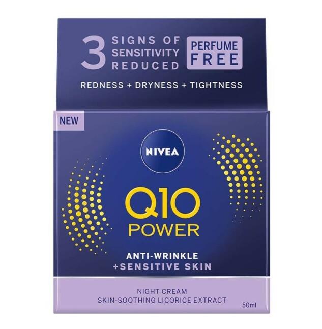 Nattkrem  NIVEA   https://www.nivea.no/produkter/q10-power-anti-wrinkle-plusfirming-regenerating-night-cream-4005808918966006863.html?utm_source=kk&utm_medium=native&utm_campaign=NO_C204_NIV_Face_Q10Care