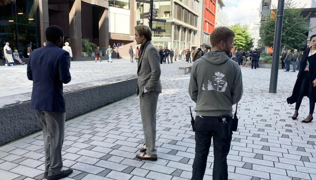 <strong>FILMINNSPILLING:</strong> Robert Pattinson avbildet på Tjuvholmen. Foto: Torun Støbakk/ Dagbladet