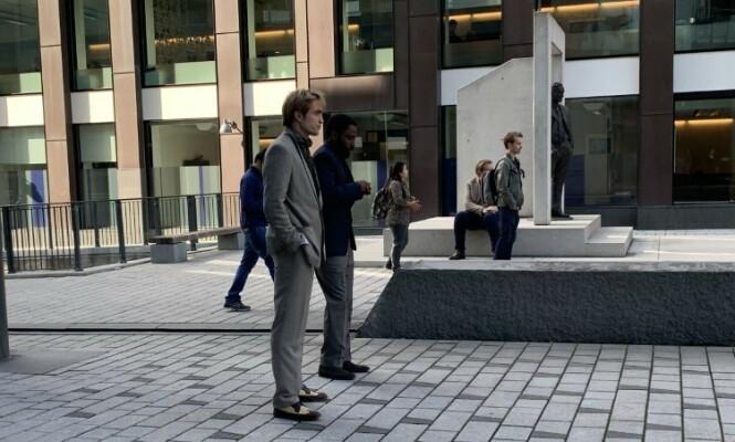 <strong>PÅ JOBB:</strong> Robert Pattinson i Oslo torsdag. Foto: Torun Støbakk/ Dagbladet