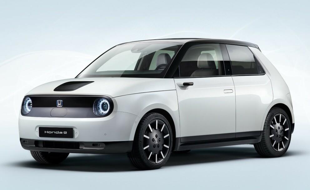 <strong>ENDELIG VERSJON:</strong> Slik vil produksjonsversjonen av Honda e se ut. Foto: Honda