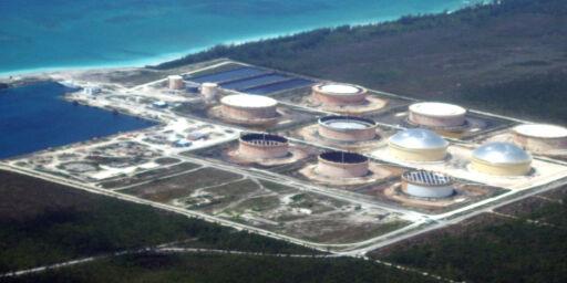 image: Oljelekkasje på Equinor-terminal etter orkan