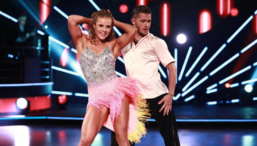 VANT: Helene Olafsen og Jørgen Nilsen imponerte både dommere og tv-seere da de deltok - og vant - «Skal vi danse» i 2017. Foto: TV 2