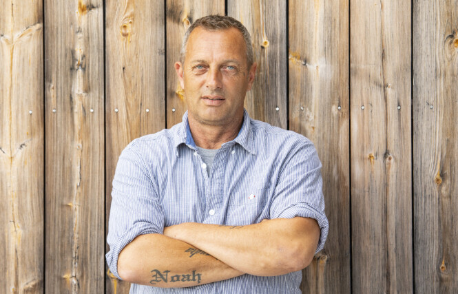 - GODT FORBEREDT: Anleggsarbeider Leif Haugo Stavenjord (53). Foto: Tor Lindseth / Se og Hør