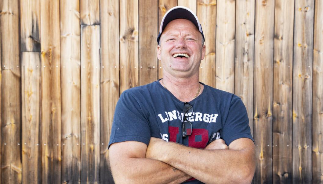 - EN RAMP: Anleggsarbeider Terje Leer (53). Foto: Tor Lindseth / Se og Hør