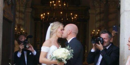 image: Nå er de gift