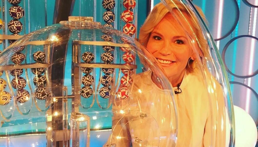 DETTE FÅR DU IKKE SE: Lotto-programleder Ingeborg Myhre avslører flere hemmeligheter fra Lotto-sendingene og fra hva som skjer bak kamera. Foto: Privat